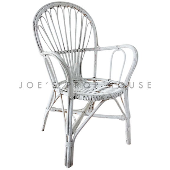 Novak Wicker Chair White
