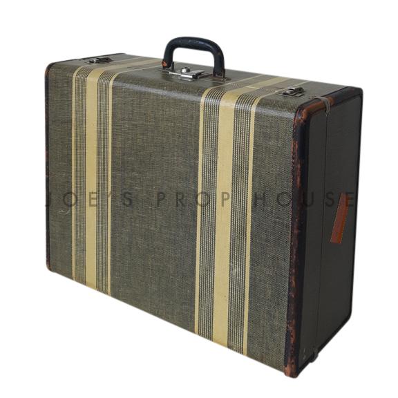 Porter Double Stripe Hardshell Suitcase Black
