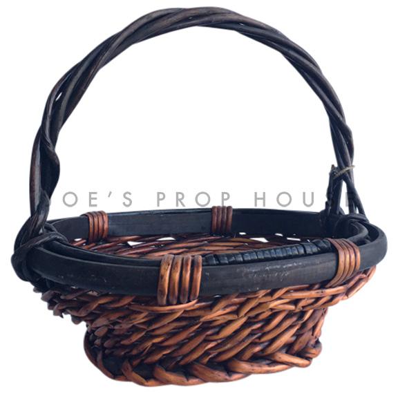 Essie Oval Wicker Basket w/Handle