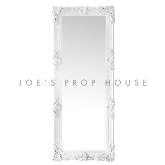Bella Baroque Self-Standing FLOOR Mirror White