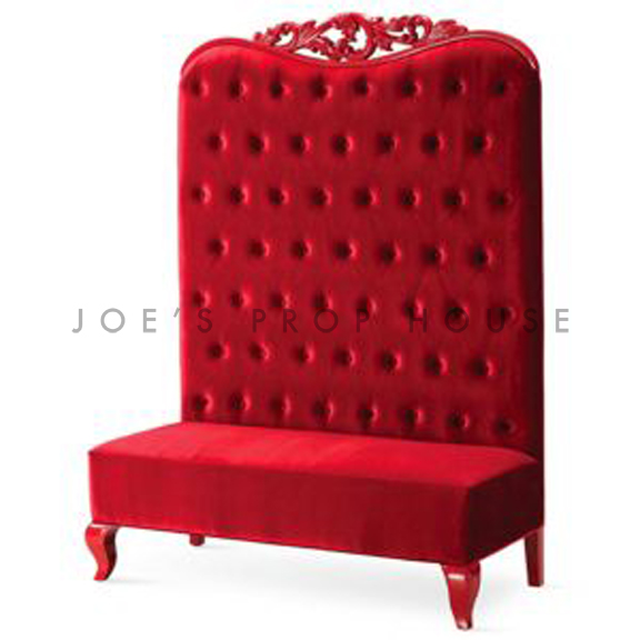 BUY ME / USED ITEM $1695.00 each Scarlett Tufted Velour Banquette Red W51in x D24in x H72in