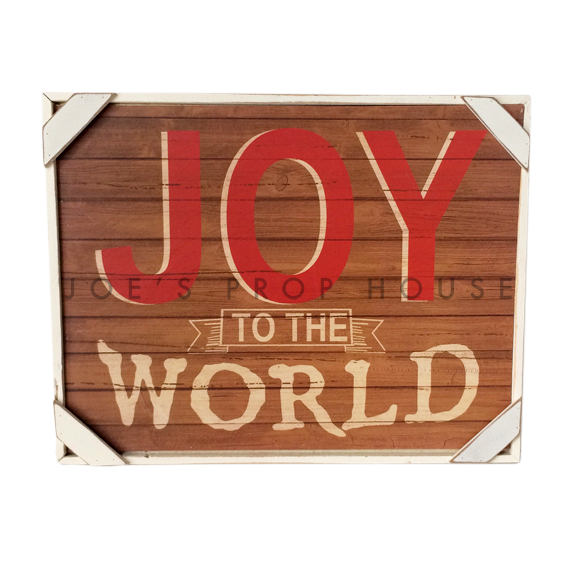 BUY ME / USED ITEM  $16.99 Joy to the World Sign W16.25in x H12.5in x D1.5in