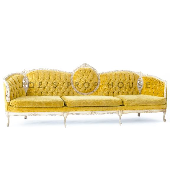 Oro Tufted Sofa Yellow