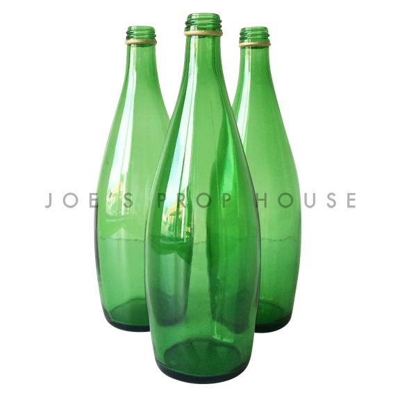 Empty Green Water Bottles
