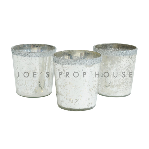 BUY ME / USED ITEM $1.99 each Mercury Glass Votive Cups Silver