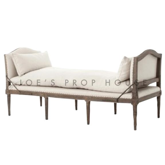 Lamont Linen Chaise Ivory W72in x D30in x H34in