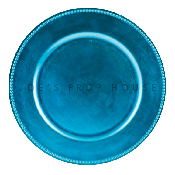 BUY ME / USED ITEM $1.99 each Aqua Blue Beaded Charger Plate