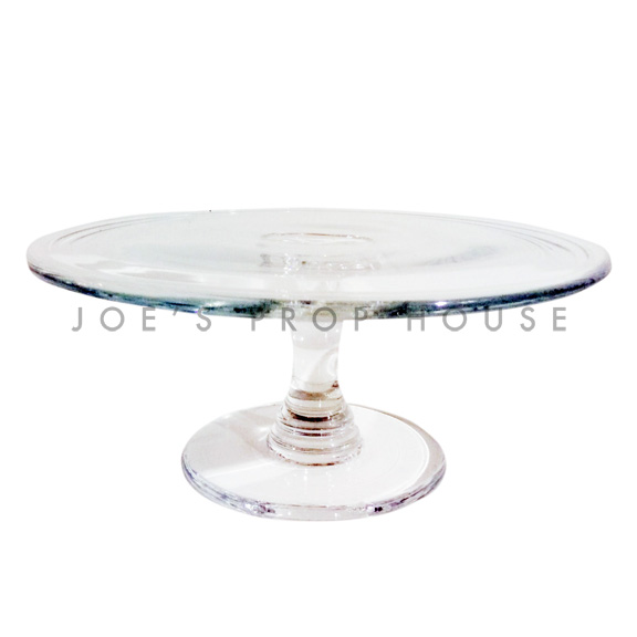 Liddel Clear Round Glass Cake Stand D9in