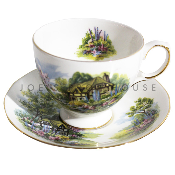 Country Garden Teacup and Saucer