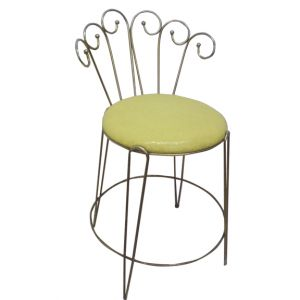 Carla Vanity Chair Yellow