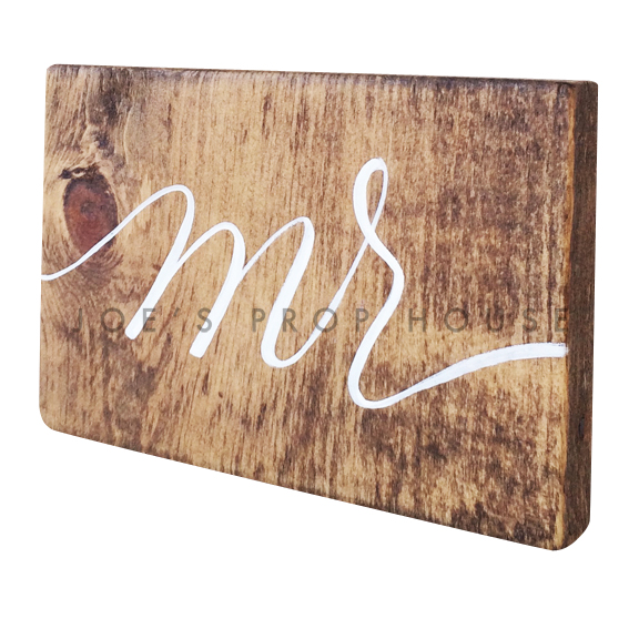 Wooden Table Number Block MR W7in x H5in