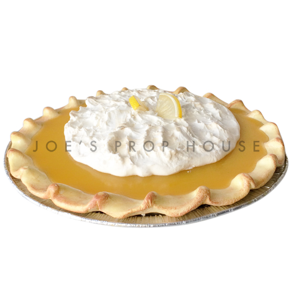 Lemon Meringue Prop Pie