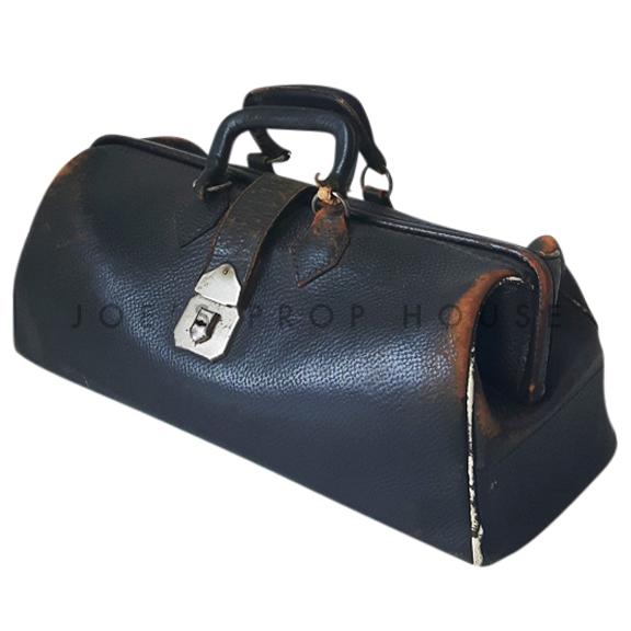 Briggs Leather Doctors Bag Black