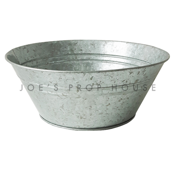 Galvanized Metal Bowl Large