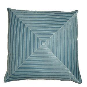 Maze Velour Accent Pillow Powder Blue