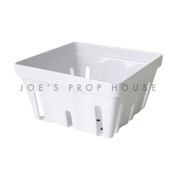 Acrylic Square Berry Basket White