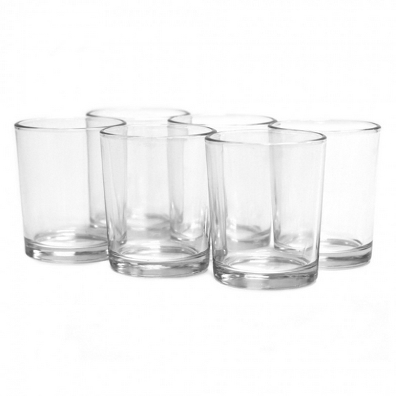 Clear Glass Cylinder Votive Cups