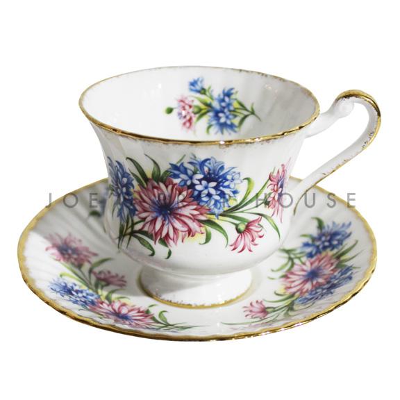 Christina Floral Teacup and Saucer