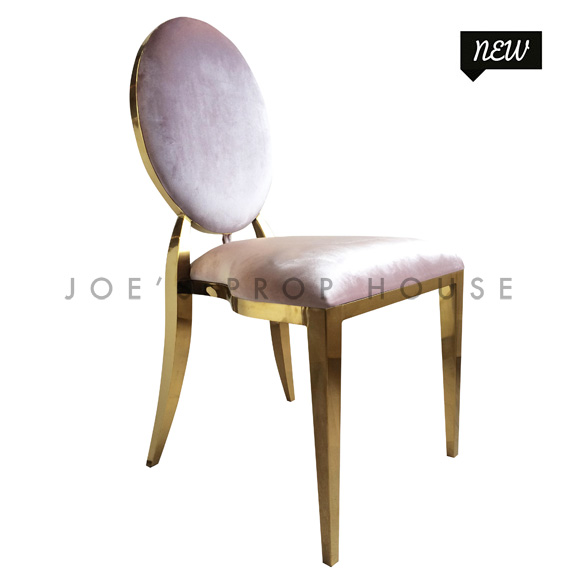 Versailles Blush Velour Dining Chair