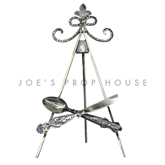 Let's Eat Metal Easel Stand Tall Black
