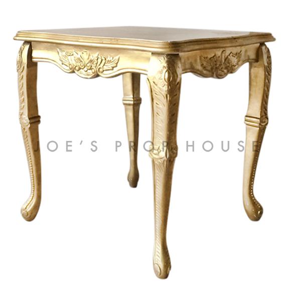 Square Baroque SCALLOP Top Table Gold