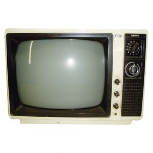 Ivory Admiral Black and White Television