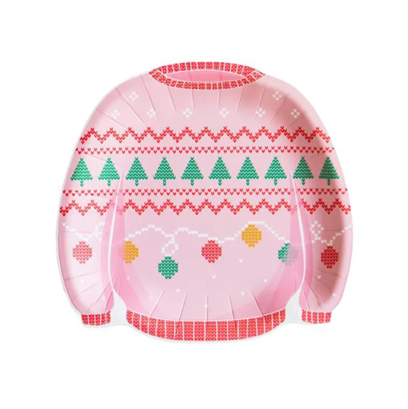 BUY ME / NEW ITEM $10.99 each Ugly Sweater Paper Plates - 8 Pack