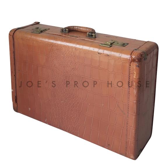 Croc Hardshell Leather Suitcase SMALL