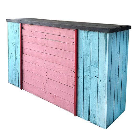 Havana Wood Palette Bar L6ft Turquoise + Pink