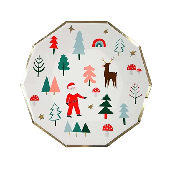BUY ME / NEW ITEM $10.99 each Holiday Icon Large Paper Plates - 8 Pack