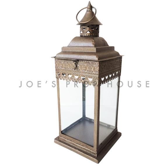 Zaida Metal Lantern LARGE Bronze