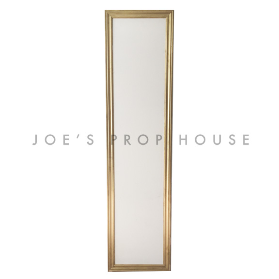 Self-Standing PLAIN Wall Ivory w/Gold Molding W2ft x H8ft