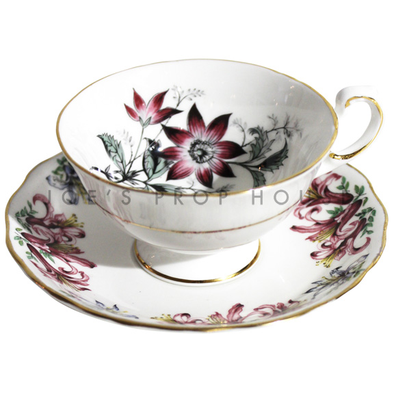 Nicolette Floral Teacup and Saucer