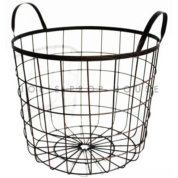 Wire Frame Basket w/Handles LARGE black