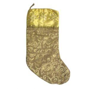 BUY ME / USED ITEM $12.99 Gold Christmas Stocking