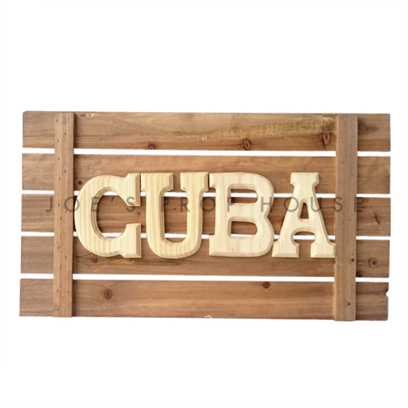 Wooden Cuba Sign