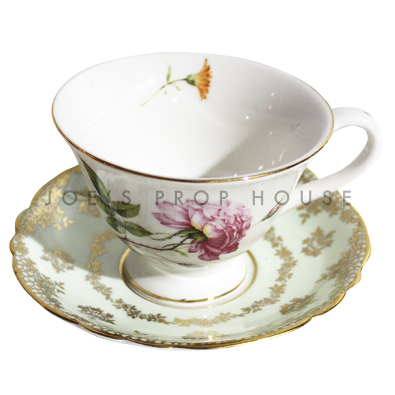 Herald Floral Teacup and Saucer