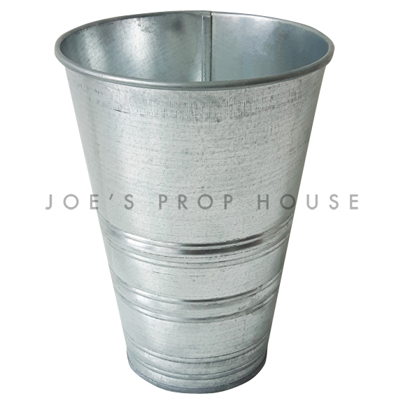 Tall Galvanized Metal Bucket Small