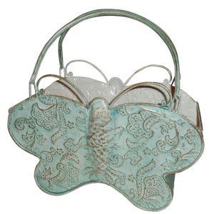 Metal Butterfly Basket w/Handles