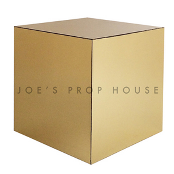 Gold Cube End Table W18in x H18in x D18in