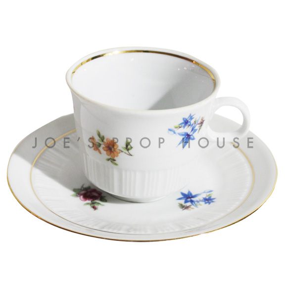 Sheila Floral Teacup and Saucer