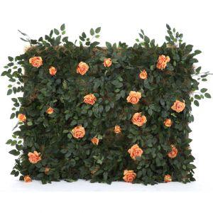 Peach Rose Bush Panel W5ft x H4ft