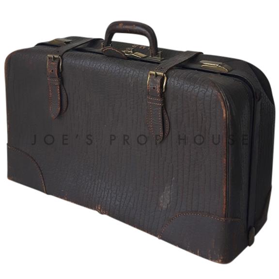 Geremiah Leather Luggage Dark Brown