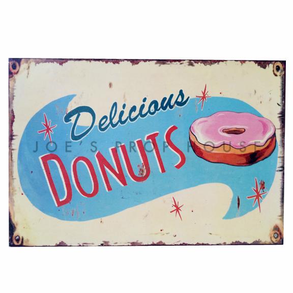 Delicious Donuts Vintage Metal Sign