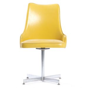 Beatrice Vinyl Dining Chair Yellow