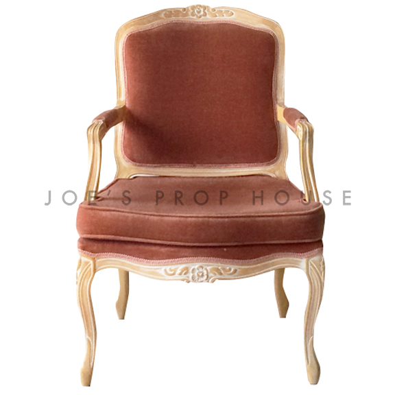 Teresa Velour Armchair Peach