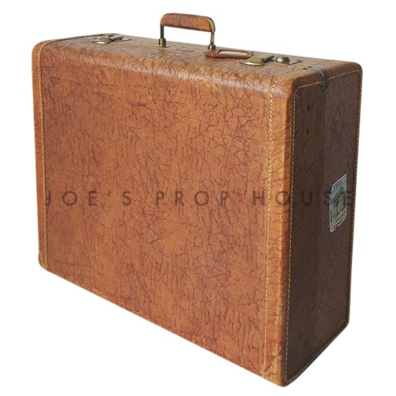 Reggie Hardshell Leather Suitcase Tan LARGE