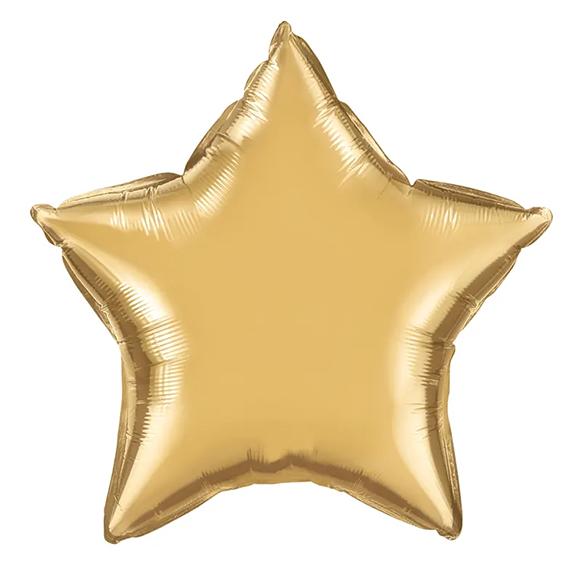 BUY ME / NEW ITEM $2.99 each 20in Gold Star Foil Shape Balloon