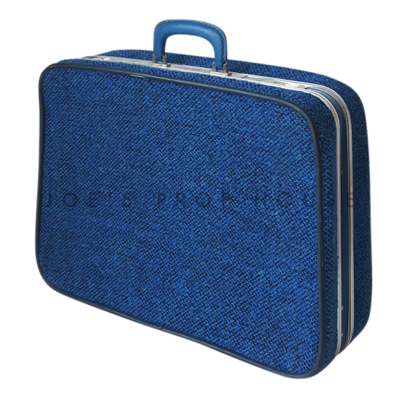 Bridwell Fabric Softshell Suitcase Blue SMALL