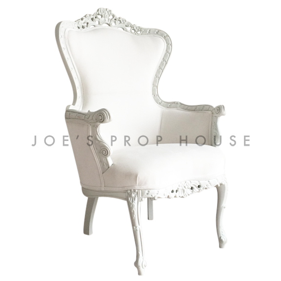 BUY ME / USED ITEM $950.00 each White Suede Baroque King Armchair